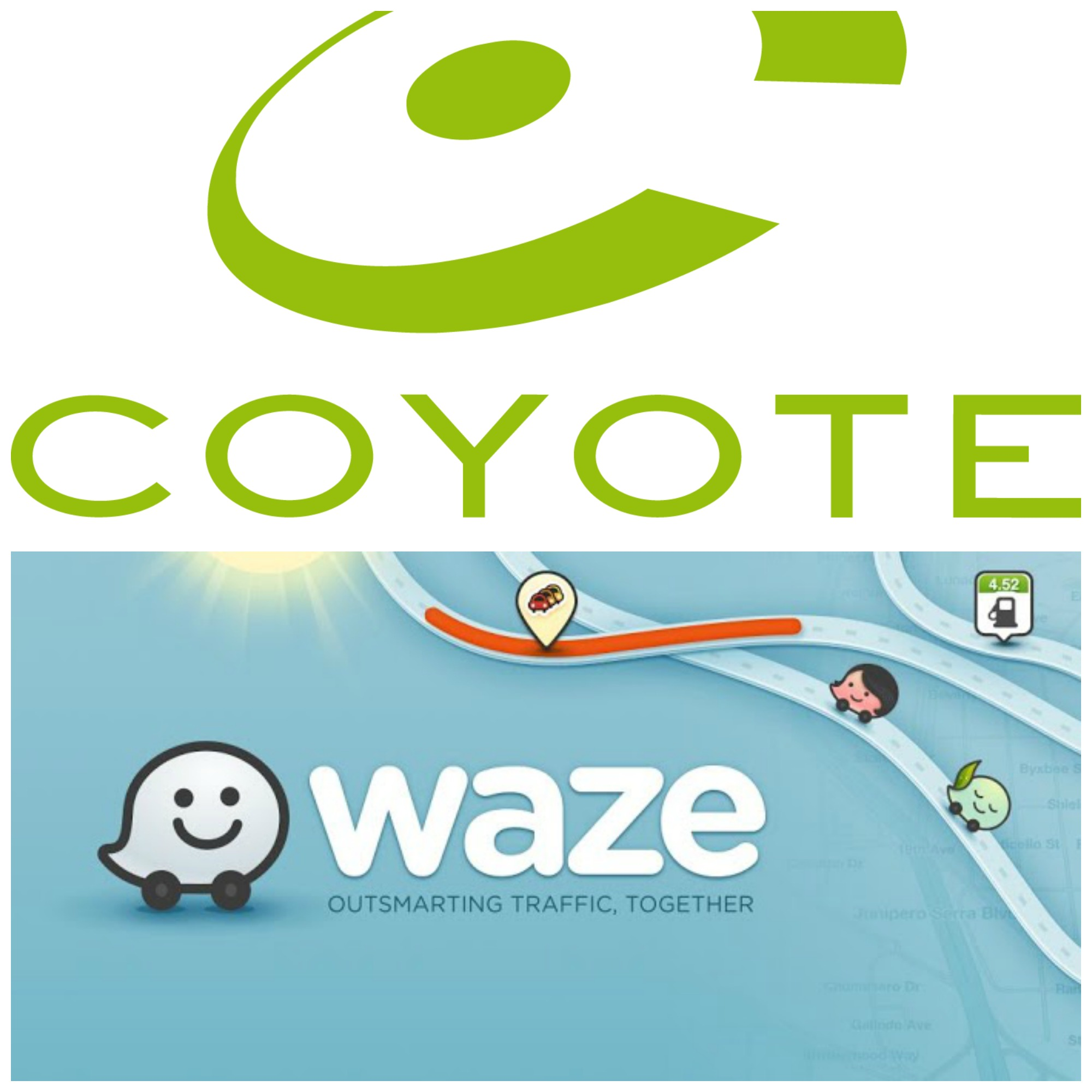 Coyote et Waze : concurrent